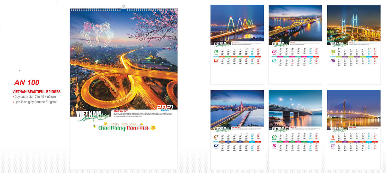 in lich tet Việt Nam beautiful bridges AN100