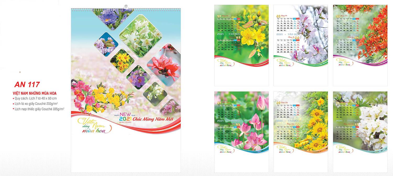 in lich tet Việt Nam những mùa hoa AN117
