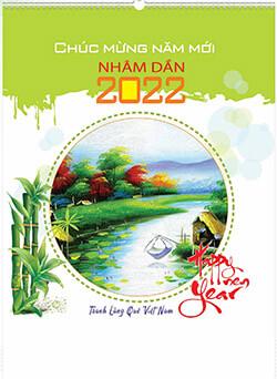 in lich tet Tranh làng quê việt nam AN104